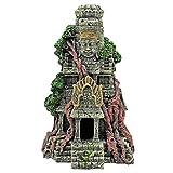 QULONG Suministros de decoración de jardín de Acuario Decoraciones de Cuevas de pecera, Arquitectura Urbana de Estatua de Buda, Adornos de Acuario 27x15x9,3 cm