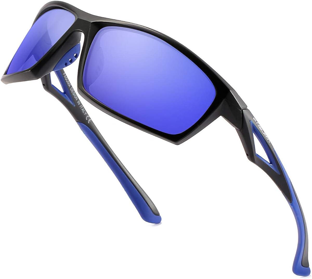 FAGUMA Sports Polarized Sunglasses For Driving Men unisex Cycling Fishi El Paso Mall