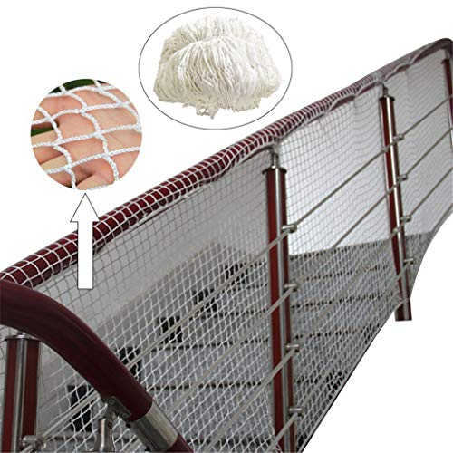 WGE Gebouw Veiligheid Net/Valbeveiliging Net/1 M X 11 M (3 Ft X 36 Ft) Touw Net/stadion hek/Car Hek Net/Tuin Hek Net,wit