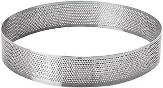 LACOR 68550 Cercle Rond perforé d20 h 3,5 cm, Acier Inoxydable, Gris, 20 cm