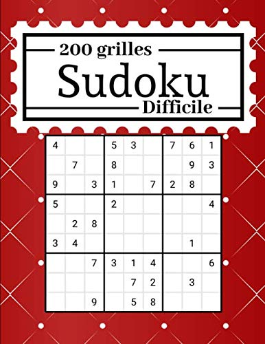 200 grilles Sudoku Difficile: Livre de grilles de sudoku niveau difficile | 200 grilles | Pour adultes et enfants | Solution en fin de livre | 2 grilles par page | Format 8,5 x 11 pouces PDF Books