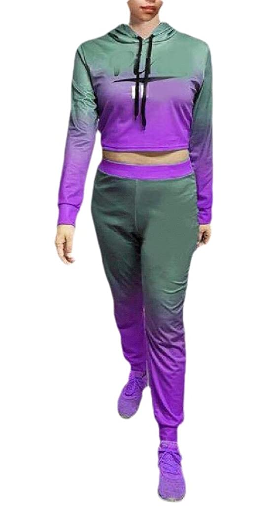 ヒギンズ大佐列車Womens Tracksuit Hoodies Sweatshirt Top Pants Sets Sport Wear Casual 2PCS Suit