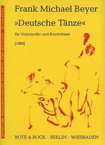 Deutsche Tänze: Violoncello und Kontrabass. Spielpartitur. (Repertoire Philharmonisches Duo Berlin Jörg Baumman - Klaus Stoll)
