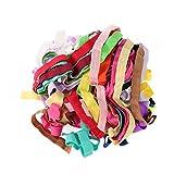 ROSENICE 15pcs Banda Costura Elástico para la Niña Adolescente Mujeres Stretch Lazos para el Cabello Diademas Arcos de Pelo Surtidos 15 Colores 1 metro cada uno