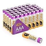 Batterie AAA - Set da 40 | GP Extra | Pile Ministilo AAA Alcaline da 1,5V / LR03 - Lunga Durata