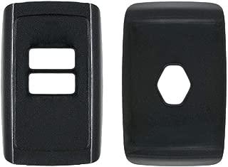 SEGADEN Paint Metallic Color Shell Cover Hard Case Holder fit for RENAULT Smart Remote Key Fob 4 Button SV0351 Black