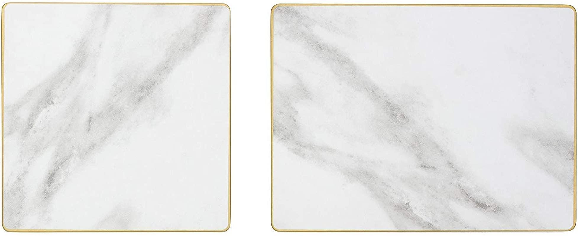 Sugar Cloth SC5CDGSMB02 Serving Set 2 Piece Marble Gold Trim