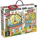 Lisciani -Montessori Collection de jeux éducatifs La Ferme - Jeu éducatif pour enfants à partir de 3 ans - EX72736