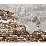 murando Fotomurales 350x256 cm XXL Papel pintado tejido no tejido Decoración de Pared decorativos Murales moderna de Diseno Fotográfico Ladrillo Concreto f-B-0083-a-d