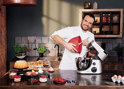 Krups KA631D11Master Perfect Gourmet Küchenmaschine (1100 Watt, Gesamtvolumen: 4,6 Liter, inkl.: Back-Set, Schnitzelwerk, Fleischwolf, Delica Tool, Flex Bowl, Flex Whisk) silber - 4