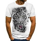 Manga Corta Nuevas Camisas De Verano para Hombre, Impresión 3D, Mangas Cortas Sueltas, Camiseta De Varios Animales Interesantes para Hombre, Ropa Info
