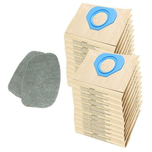 Spares2go filtre Coussinets + Sacs à poussière pour Nilfisk Ga70i Ga70s Ga70tl Aspirateur (lot de 2 filtres + 20 Sacs)
