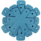 BYKITCHEN Pot Pan Protectors, Set of 12 and 4 Different Sizes, Larger & Thicker Cyan Pan Protector Pads, Pan Pot Separator Pads for Stacking and Protecting Your Cookware