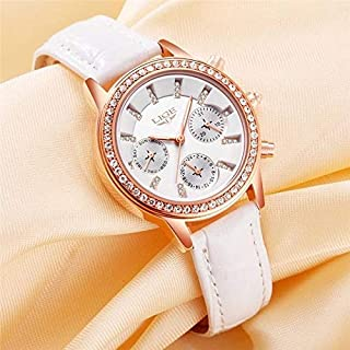 LIGE Casual Watch For Women Analog Leather - LIGE9812