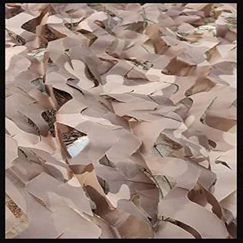Red de camuflaje, red de camuflaje, rollo a granel, malla, cubierta, persiana, liviana, duradera, de diferentes tamaños para sombrilla, caza, tiro, ciego, camping, deco(Size:3×5m/9.8×16.4ft,Color:D)