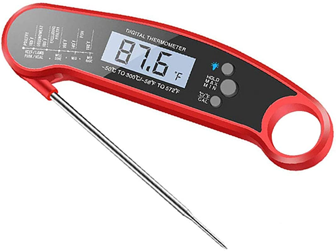 HYJMJJ Instant Read Meat Thermometer Best Waterproof Ultra Fast Thermometer With Backlight For Kitchen Outdoor Cooking BBQ And Grill