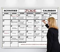 HUUUGE 壁カレンダー 48インチ x 72インチ 特大日付ボックス 高耐久ラミネート/紙 巻いて整理に最適