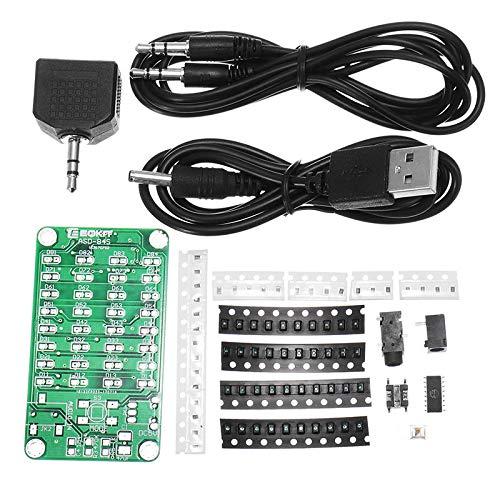 JISHIYU-Q 8 * 4 Storey Indicator Kit SMD Practice Board Audio Spectrum Indicator Electronic Production Parts