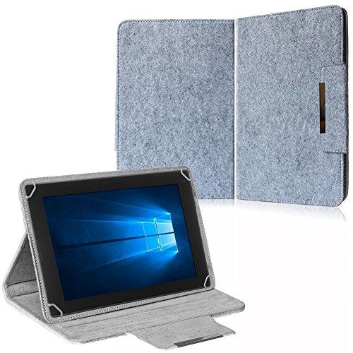 NAUC Filz Hülle f Archos Copper 101C Tablet Tasche Schutzhülle Case Cover Stand, Farben:Hell Grau