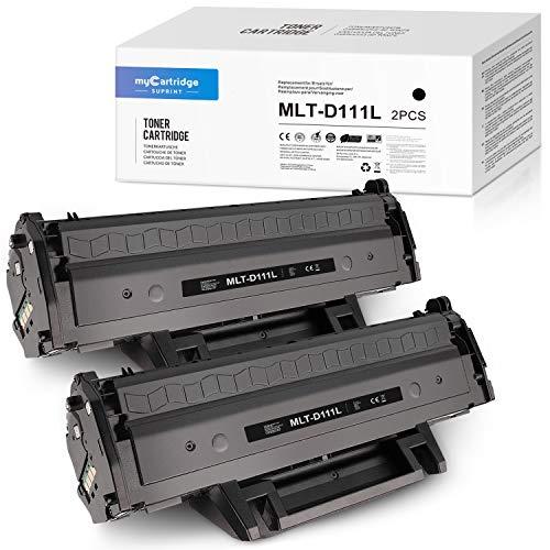 myCartridge SUPRINT MLT-D111L Toner 2 Schwarz Ersatz für Samsung MLT-D111L MLT-D111S MLT D111S D111L für Samsung Xpress SL-M2070W M2026W M2070 M2026 M2070FW M2020 M2022W M2020W M2022 (2 Schwarz)