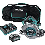 Makita GSH02M1 40V max XGT AWS Capable Brushless Lithium-Ion 7-1/4 in. Cordless Circular Saw Kit with Guide Rail Compatible Base (4 Ah)