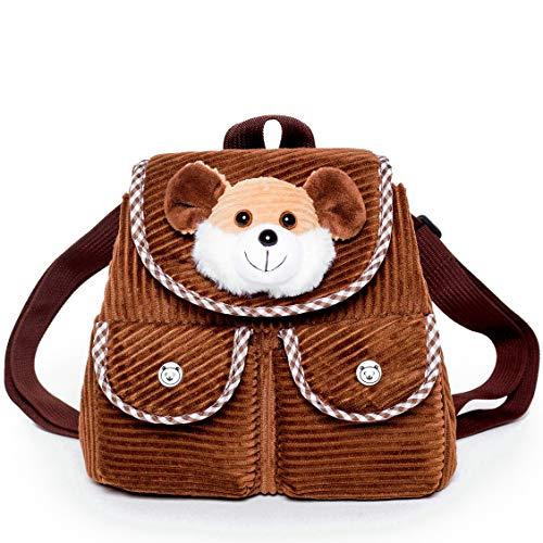 Mini Toddler Backpack for Boy Girl Kids - Preschool Corduroy Animal Toys Plush Backpack Tiny - Plush Mouse Rat Stuffed Animal - Toys for 3 4 5 6 7 Year Old Girls Boys - 3-6 Year Old Girl Birthday Gift
