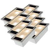 Solar Pflastersteine Solarstein 8er Set 10x20cm LED warmweiß trittfest