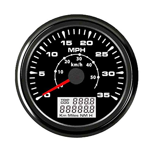 ELING Car Boat GPS Speedometer Velometer 0-35MPH 0-55KM/H Odometer with ODO COG Trip 85mm