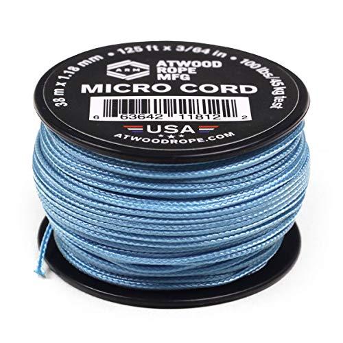 Atwood Rope MFG Carolina Taktische Nylon/Polyester Micro Utility-Kordel, 1,18 mm x 38 m, wiederverwendbare Spule | Angelausrüstung, Schmuckherstellung, Camping-Zubehör