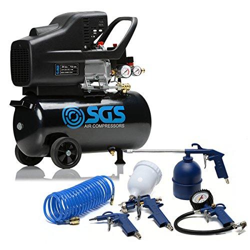 24 Litre Air Compressor & Tool Kit - 9.6 CFM, 2.5 HP