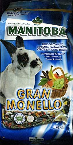 MANITOBA Futter für Kaninchen große monello- kg 1 - Nagerfutter