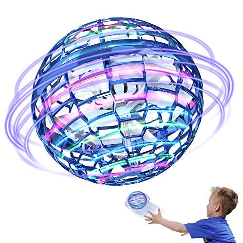 Xruison Flynova Pro Fliegendes Spinner Spielzeug Controller Drohnen Flugspielzeug 360°Drehbare Verbesserte Globe Shape Magischer RGB Lights Geeignet Kinder Erwachsene