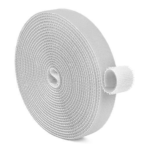 TNP Cinta de Velcro, Sujetadores de cable, Rollo de tela de nylon...