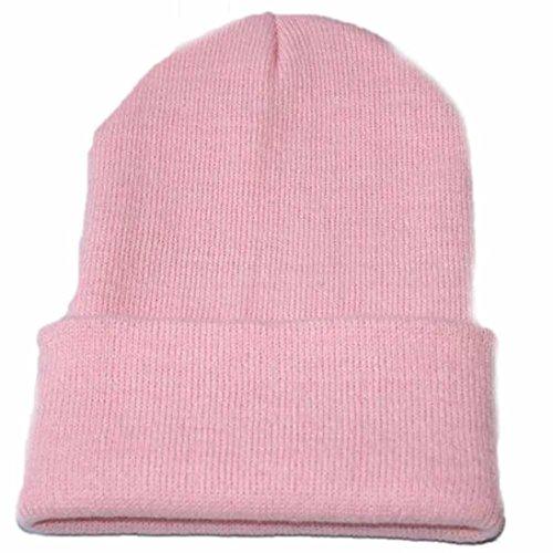 QinMM Sombrero De Punto Unisex, Mujer Hombre Hip Hop Gorro CáLido Slouchy Cap Esquí De Invierno Hat