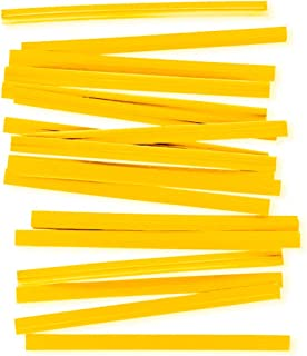 "APQ Pack of 2000 Paper Twist Ties 4"" Long and 3/16"" Wide. Yellow Twist Ties for Plastic Trash, Bread Bags. Paper Coated Ti..."