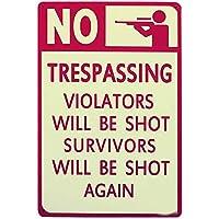 警告なし 金属板ブリキ看板警告サイン注意サイン表示パネル情報サイン金属安全サイン