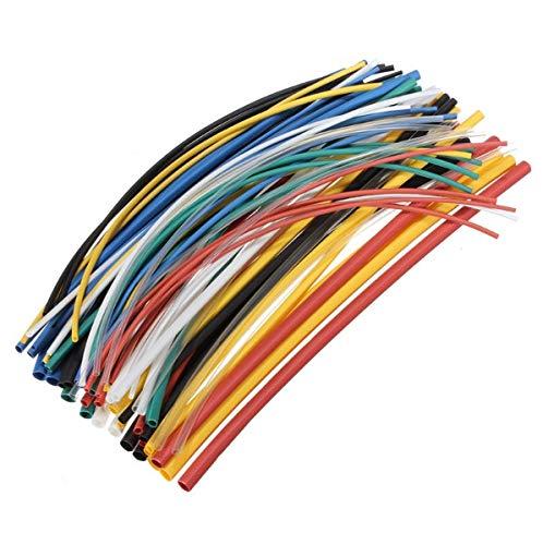 DFYYQ 70 PC ignífugos Duradero 7 Colores Surtidos Colores proporción 2: 1 de poliolefina Encogimiento del Calor Kits de Tubos de tuberías