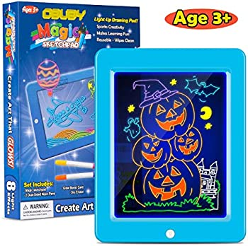 Obuby Kids Magic Light Up Glow LED Draw Sketch Tablet Pad