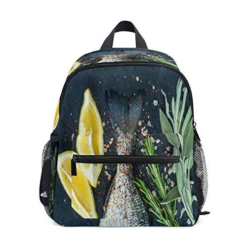 Rucksack Vanille Zitrone und Salz Schule Rucksack für Mädchen Kinder Grundschule Schultasche Mini Rucksäcke