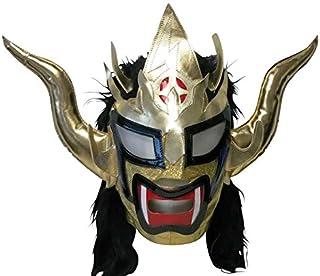 【プロレス マスク】獣神サンダー・ライガー レプリカマスク 髪付 ゴールド×髪ブラック ルチャリブレ プロレス