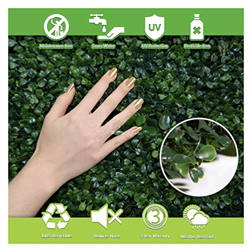Green Artificial Boxwood Hedge Mat For Indoor Outdoor Decor Office Buildings Greenery Covering, 24'' L X 16'' W (Size : 18pcs)