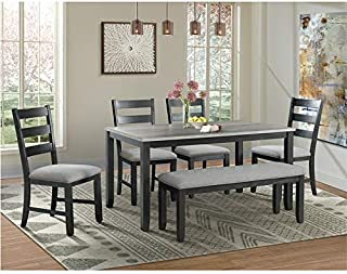 Picket House Furnishings Kona Gray 6PC Dining Set