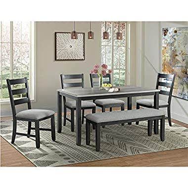 Picket House Furnishings Kona Gray 6PC Dining Set