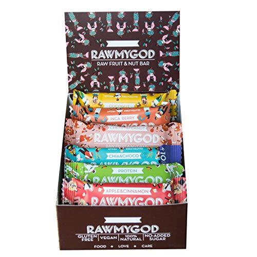 Rawmygod Vegane Snack Energieriegel - Just Nuts & Fruits - Raw Vegan und Glutenfrei (15er Sparpaket)