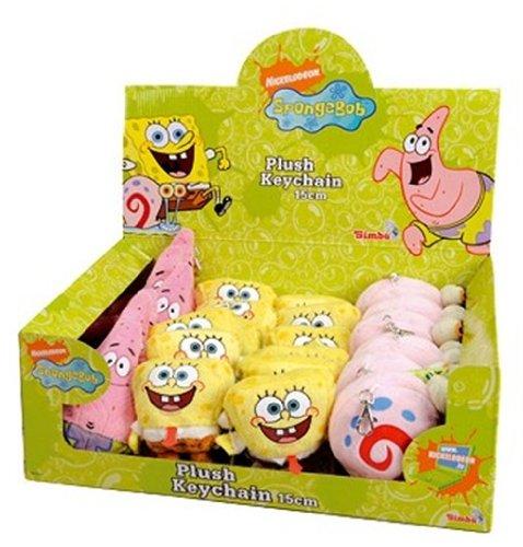 Simba 109495609 - SpongeBob Plüschanhänger 15cm, sortiert, 1 Stück