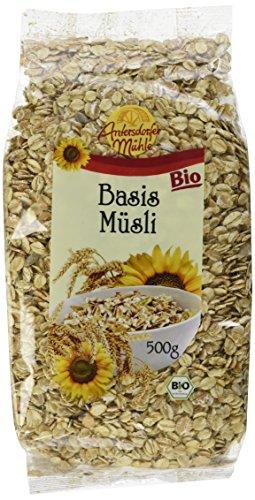 Antersdorfer Mühle Basis-Müsli Bioland/Biokreis, 6er Pack (6 x 500 g)