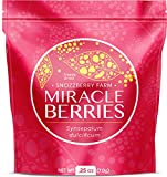 Miracle Berries by Snozzberry Farm   44 berry halves   Freeze-dried, Grown in the USA   Turn Sour Sweet   Best Value in the Marketplace