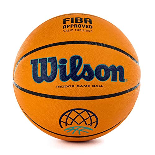 Wilson Basketball, EVO NEXT CHAMPIONS LEAGUE, Offizieller Spielball der Basketball Champions League, FIBA-zugelassen, Für Halle geeignet, Komposit-Material, WTB0900XBBCL