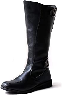 Very Cost-Effective Men's Fashion Motorcycle Boots Casual The British Style is Simple and Classic Knee High Wear Resistant Sole Boot (Color : Black, Size : 6.5 UK)