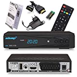 Ankaro 2100 DSR Sat-Receiver - HD Satelliten Receiver mit USB-Mediaplayer Funktion - DVB-S/S2 Receiver für Satellit - Astra & Hotbird vorinstalliert + Anadol HDMI Kabel (Mit PVR Aufnahmefunktion)